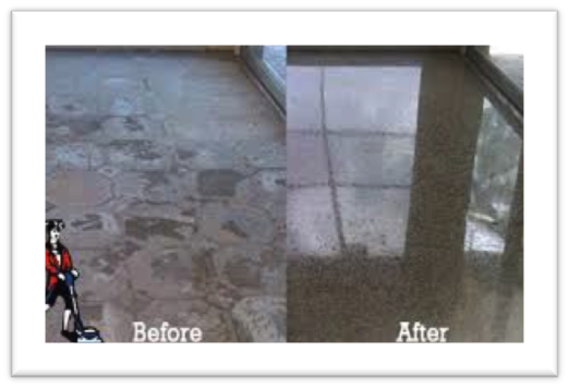 Before After Concrete Floors Polishing & Cleaning Melbourne